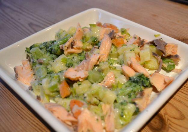 Creamy leeks and vegetables
